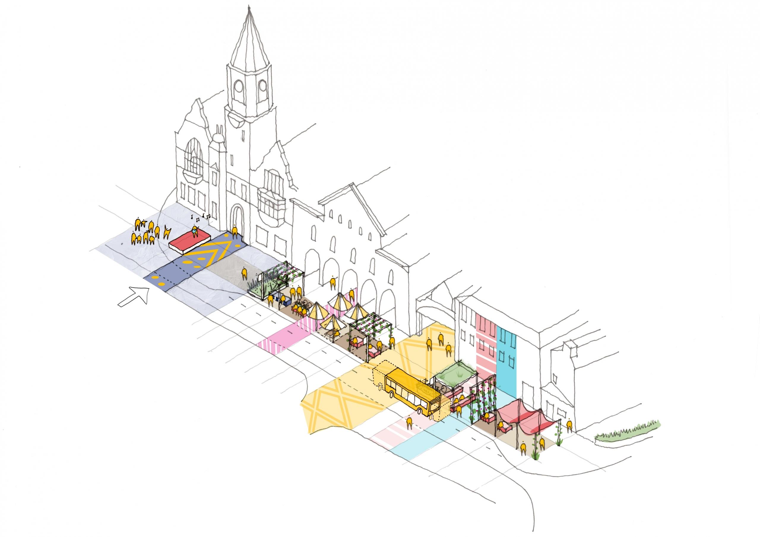 Town Public Realm Design Streetscape